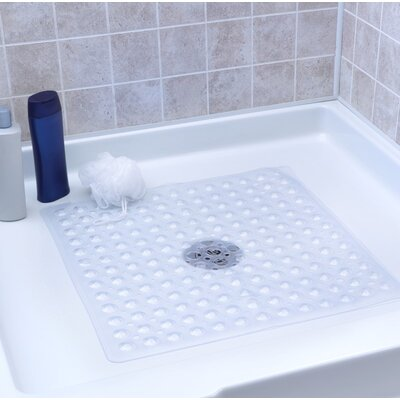 Square Shower Mat Color: Clear