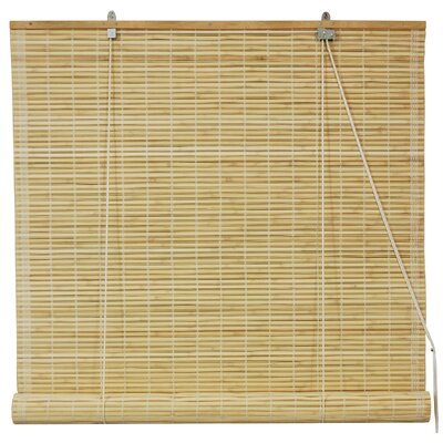 Roll Up Blinds Size: 60 W x 72 L, Color: Natural