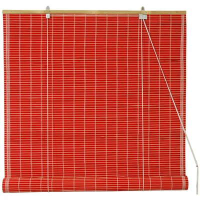 Roll Up Blinds Size: 24 W x 72 L, Color: Red