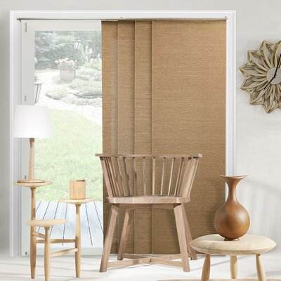 Lloyd Adjustable Double Rail Vertical Blind Color: Birch Truffle