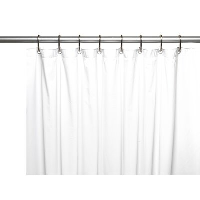 10 Gauge Mildew Resistant Vinyl Shower Curtain Liner Size: 72 W x 72 D, Color: White