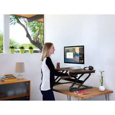 Workspace Lift 20 H x 35 W Standing Desk Conversion Unit Finish: Mocha Bamboo
