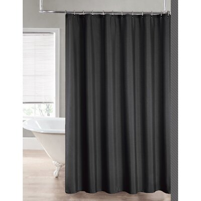 2-in-1 Waterproof Shower Curtain Color: Charcoal
