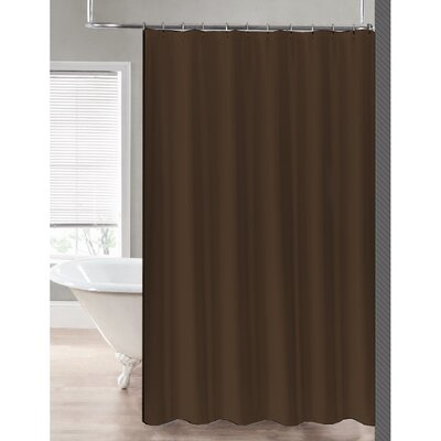 2-in-1 Waterproof Shower Curtain Color: Chocolate