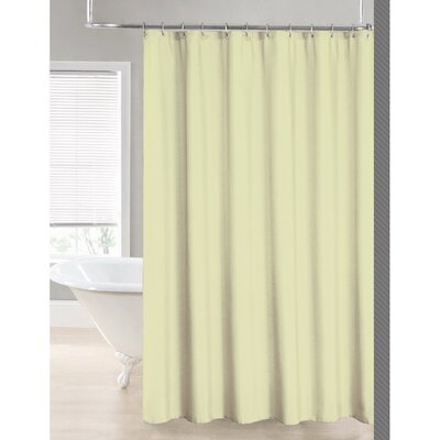 2-in-1 Waterproof Shower Curtain Color: Ivory