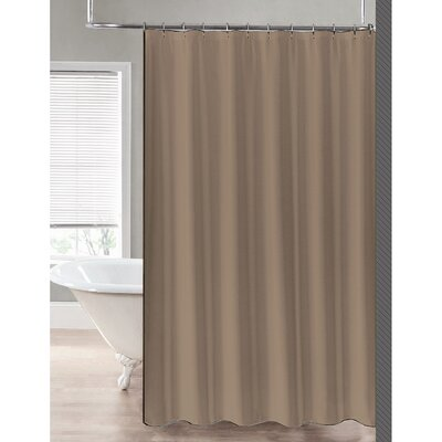 2-in-1 Waterproof Shower Curtain Color: Linen