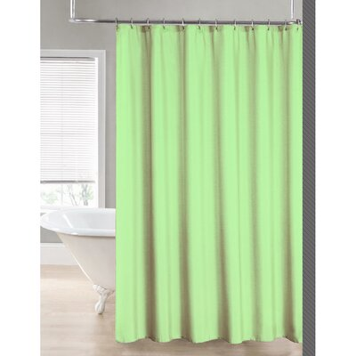 2-in-1 Waterproof Shower Curtain Color: Moss
