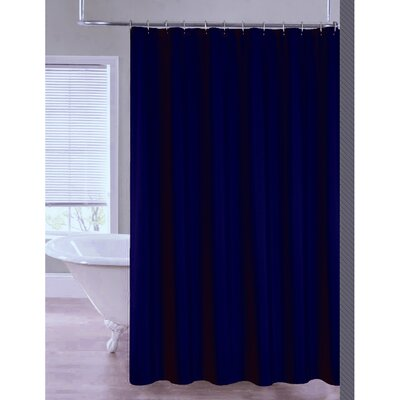 2-in-1 Waterproof Shower Curtain Color: Navy