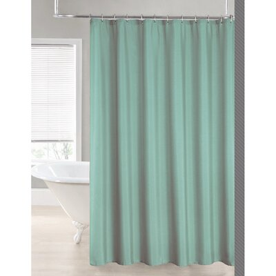 2-in-1 Waterproof Shower Curtain Color: Blue