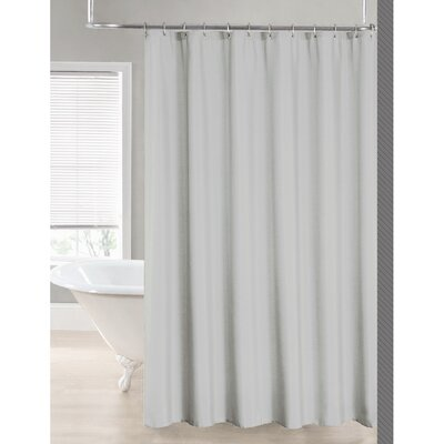 2-in-1 Waterproof Shower Curtain Color: Silver