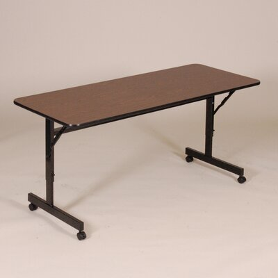 Flipper Training Table with Wheels Finish: Walnut, Width: 72 W