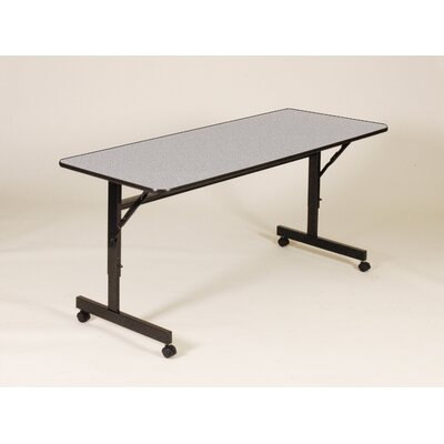 Flipper Training Table with Wheels Width: 48 W, Finish: Gray Granite