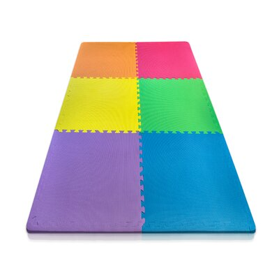 6 Piece Anti-Fatigue Interlocking Flooring Mat Set