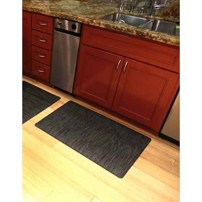 Torrick Comfort Kitchen Mat Rug Size: Rectangle 2 x 6, Color: Charcoal