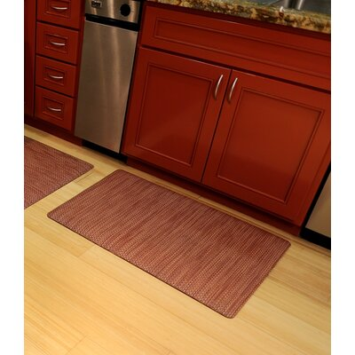 Ultra Comfort Mat Rug Size: 2 x 3, Color: Red Wicker