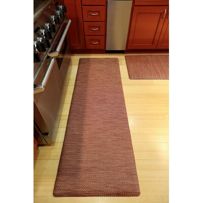 Ultra Comfort Mat Color: Red Wicker, Rug Size: 2 x 6
