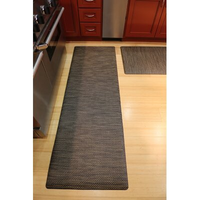 Ultra Comfort Mat Color: Black Wicker, Rug Size: 2 x 6