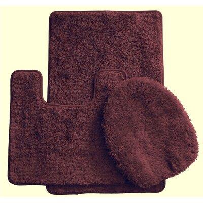 3 Piece Bath Rug Set Color: Brown