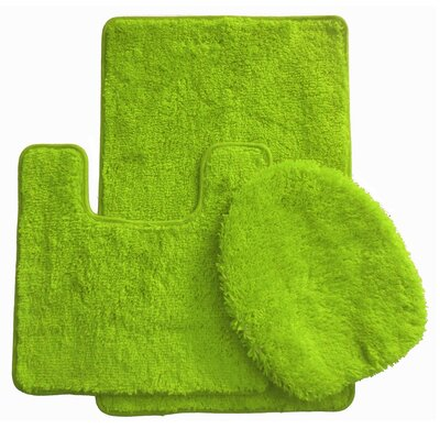 3 Piece Bath Rug Set Color: Green