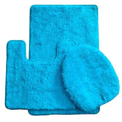 3 Piece Bath Rug Set Color: Slate Blue
