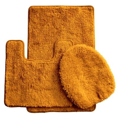 3 Piece Bath Rug Set Color: Gold