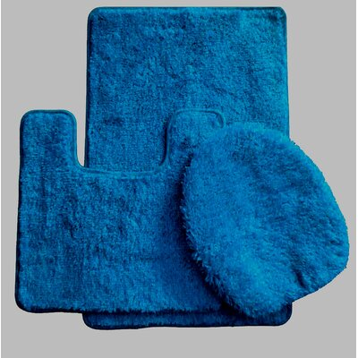 3 Piece Bath Rug Set Color: Royal Blue