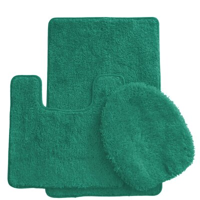 3 Piece Bath Rug Set Color: Tropical Green