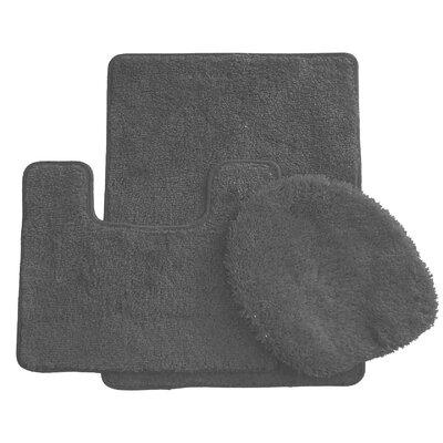 3 Piece Bath Rug Set Color: Gray