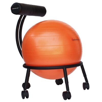 High-Back Exercise Ball Chair Upholstery: Orange IRK1132 24409787
