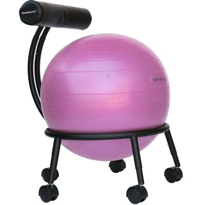 High-Back Exercise Ball Chair Upholstery: Pink IRK1132 24409789