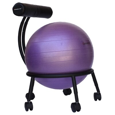 High-Back Exercise Ball Chair Upholstery: Purple IRK1132 24409790