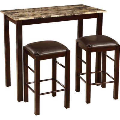 3 Piece Counter Height Wood Dining Set