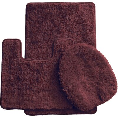 3 Piece Bath Rug Set Color: Brown