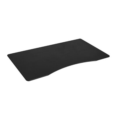 1 H x 54 W Desktop Table Top Finish: Black