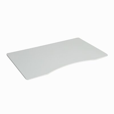 1 H x 54 W Desktop Table Top Finish: White