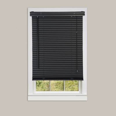 Semi-Sheer Horizontal/Venetian Blind Blind Size: 25W x 64L, Color: Black