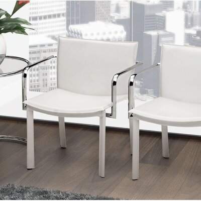 Conference Armchair Upholstery: White