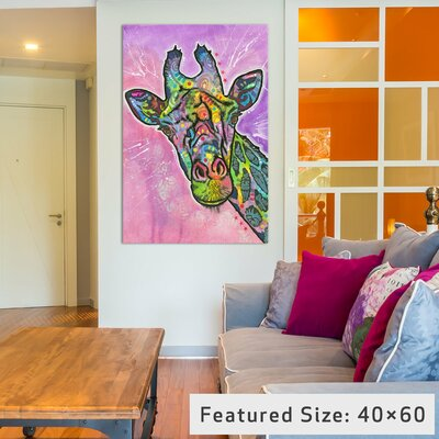 Giraffe Graphic Art on Wrapped Canvas Size: 12