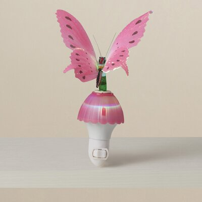 Ayana Fiber Butterfly Night Light Color: Pink