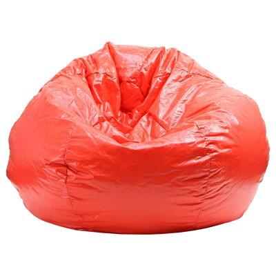 Luke Bean Bag Chair Color: Red, Size: Medium / Tween