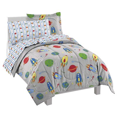 Kole Space Rocket 5 Piece Twin Bed-In-A-Bag Set