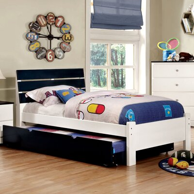 Cristina Platform Bed Size: Full, Color: Blue