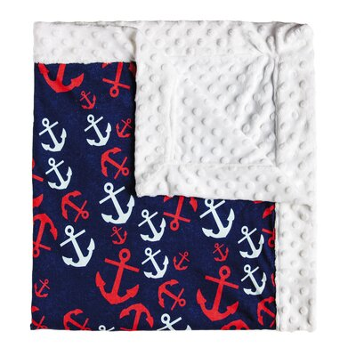 Jaylen Anchors Away Anchor Minky Dot Blanket