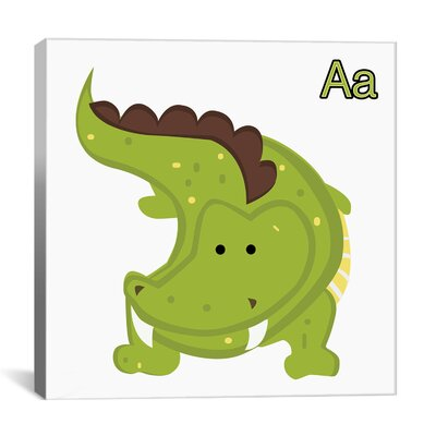 A is for Alligator Graphic Canvas Wall Art ZMIE1324 28009159