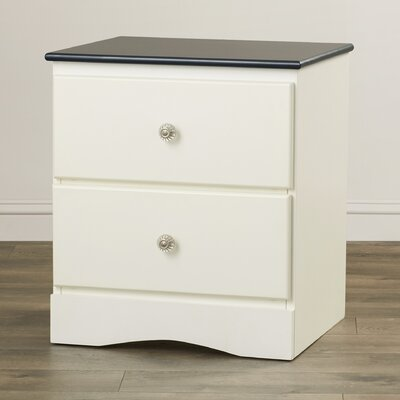 Cristina 2 Drawer Nightstand Color: Blue