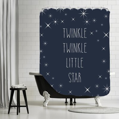 Peach & Gold Jaelyn Twinkle Shower Curtain