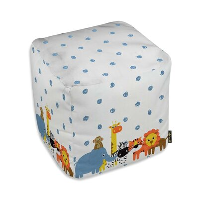 Jazlyn Animals in the Rain Ottoman