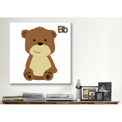 B is for Bear Graphic Canvas Wall Art ZMIE1390 29018214