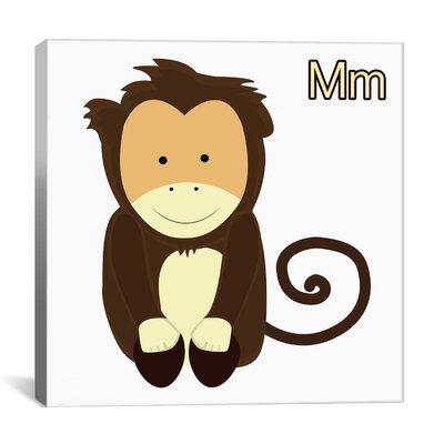 Ainsley Monkey Graphics Canvas Art Size: 18