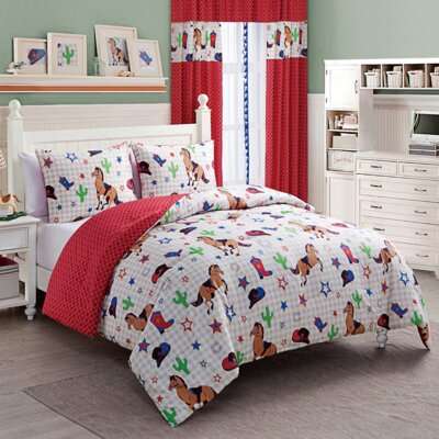 Priscila Reversible Comforter Set Size: Twin